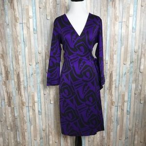 Diane Von Furstenberg 10 Silk Julian Wrap Dress